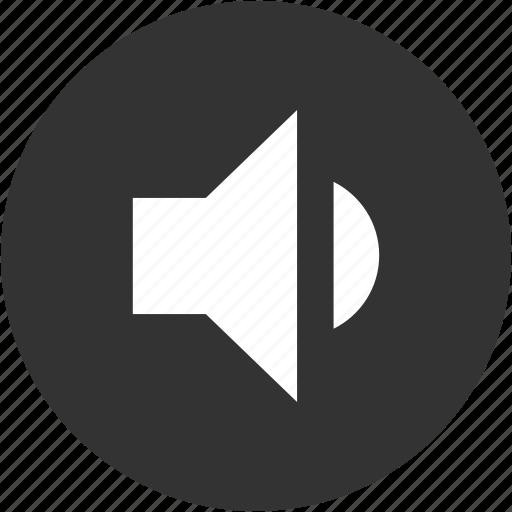 circle, medium volume, music, normal volume, sound, speaker, volume icon