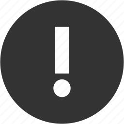 alert, attention, circle, error, exclamation, problem, warning icon