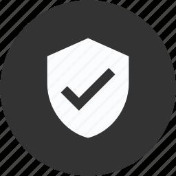 circle, sheild, tick, trust, verification, verified, verify icon