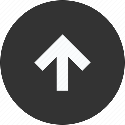 arrow, circle, direction, north, top, up, upload icon