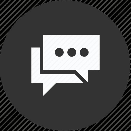 bubble, chat, circle, communication, conversation, messages icon