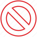 cancel, cross, exit, no, not allowed, stop, wrong icon