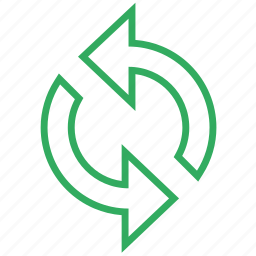 exchange, recycle, refresh, reload, repeat, sync, update icon