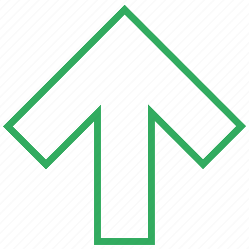 arrow, arrows, direction, top, up, upload, upward icon