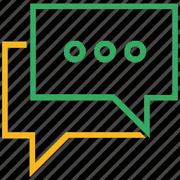 bubble, chat, communication, conversation, message, speech, text icon
