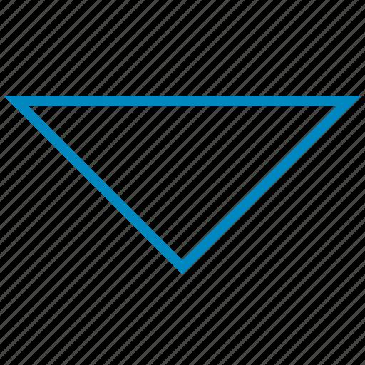 arrow, arrows, below, bottom, direction, down, downward icon