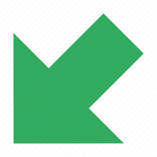 arrow, back, direction, incoming, left, left bottom, navigation icon