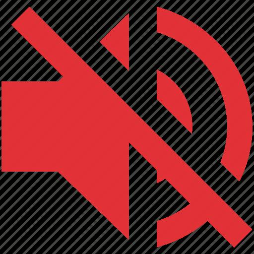 audio, media, music, mute, sound, speaker, volume icon