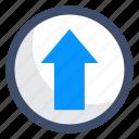 arrow up, export, up arrow, upload icon