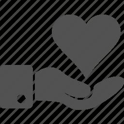 care, hand, health, health care, heart, like, love icon
