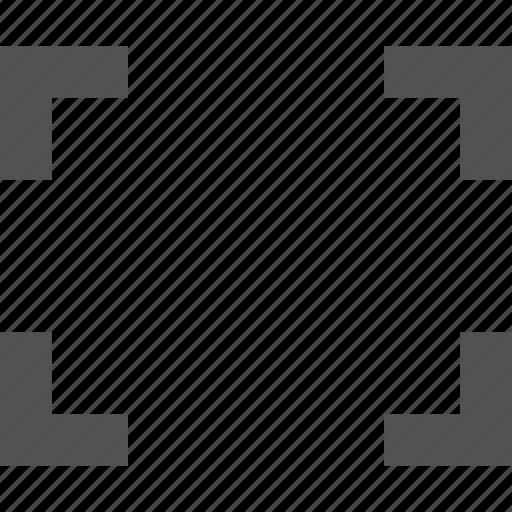 arrow, expand, full, man, zoom icon