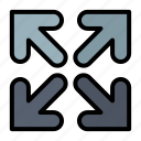arrow, direction, move icon