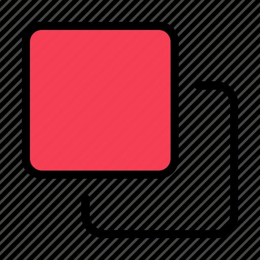 four, media, quadruple, stack icon