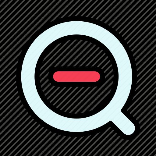 delete, less, remove, search icon