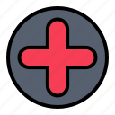 hospital, medical, plus, sign icon