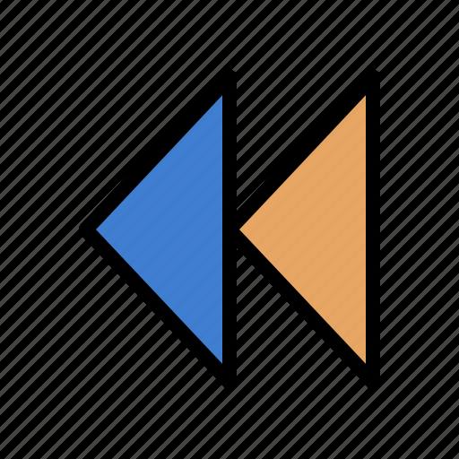 control, media, revind, video icon