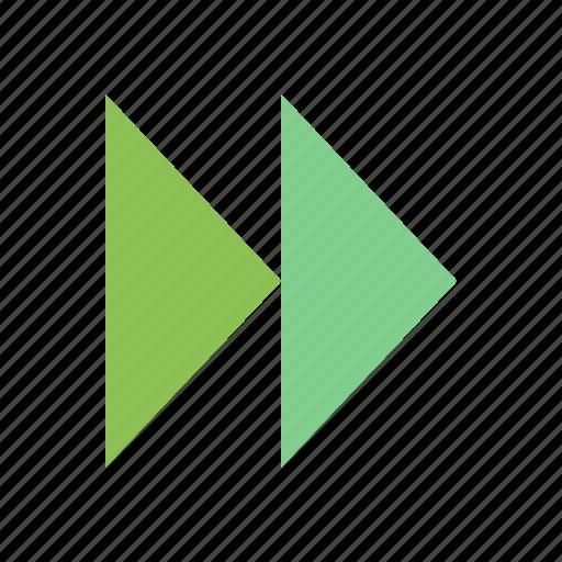 control, fast, forward, media, video icon