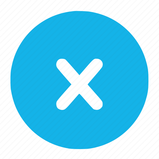 cancle, close, cross, exit, no, not, out icon