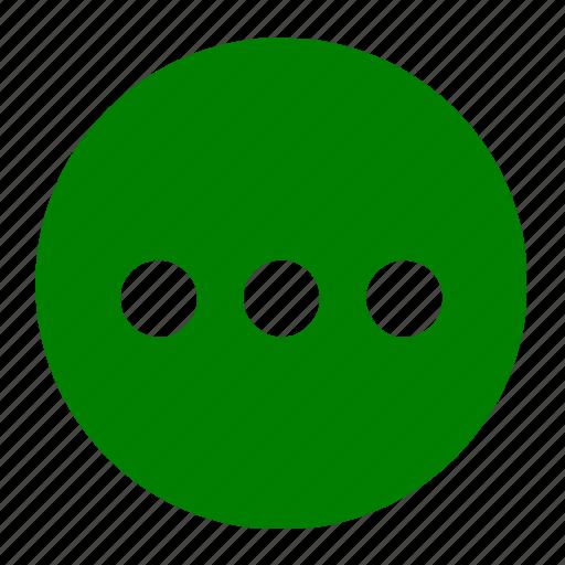continue, dot, dots, ellipsis, list, menu icon