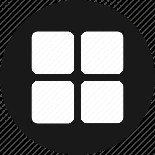 apps, grid, list, menu icon
