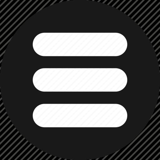 hamburger, list, menu, options, stack icon