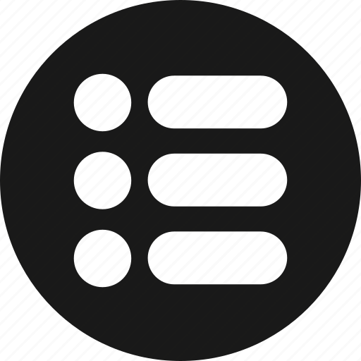 bullet, list, menu, options icon