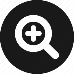 find, glass, in, magnifier, magnifying, view icon