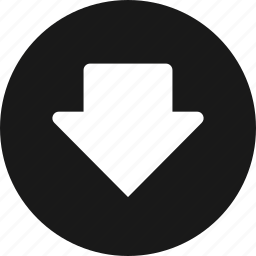 arrow, arrows, direction, down, download, downloads icon