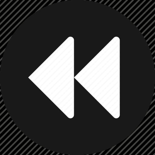 arrow, back, backward, first, previous icon