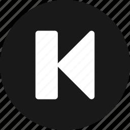 arrow, arrows, back, direction, left, previous icon