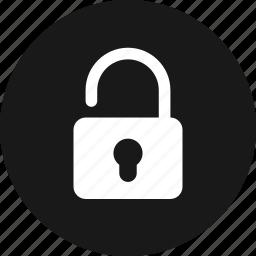 lock, password, protection, public, security, unlock icon