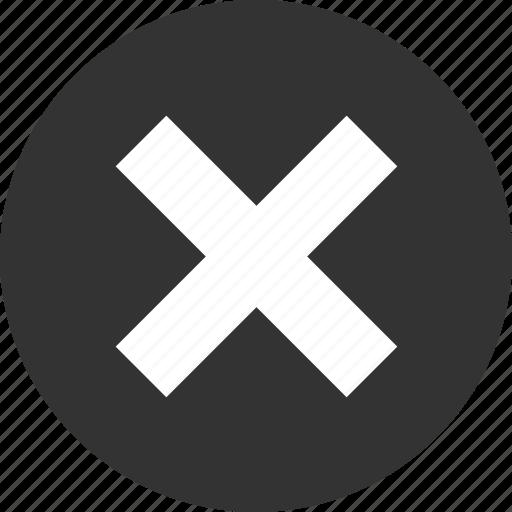 cancel, close, delete, exit, no, remove, x icon
