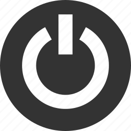 log, logout, off, on, out, power, sign icon