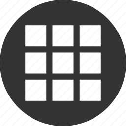 app, apps, circle, circular, grid, items, list, menu, round, shape icon