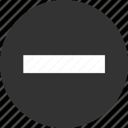 cancel, circle, circular, close, delete, exit, garbage, minus, remove, round, sign, stop, trash icon