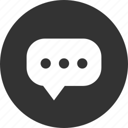 bubble, chat, circle, circular, comment, comments, message, round, speak, speech, talk, text icon