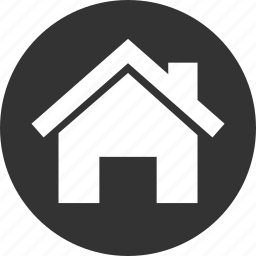 apartment, build, building, buildings, circle, circular, city, estate, home, house, real, round, web icon