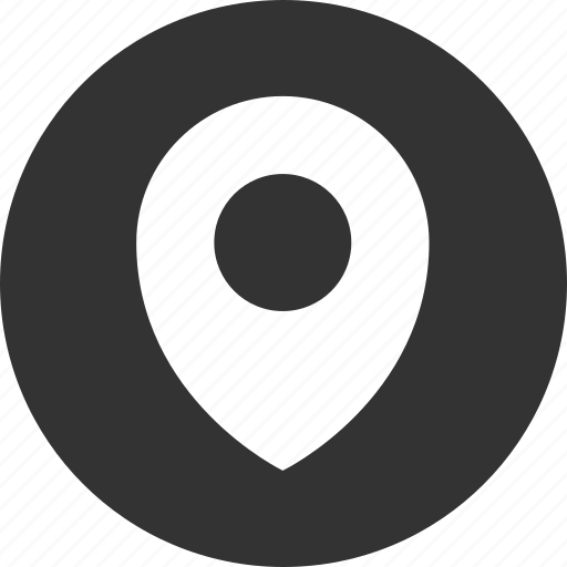 circle, circular, direction, gps, location, map, marker, navigation, pin, place, pointer, position, round icon