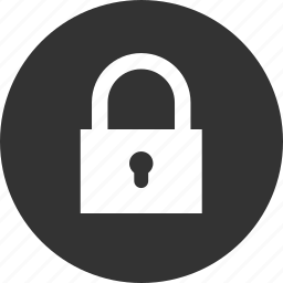 circle, circular, key, lock, locked, password, private, protect, protection, round, safe, safety, secure, security, shield, unlock icon