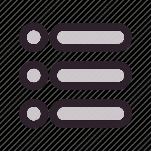 bullet, checklist, list, menu, option icon