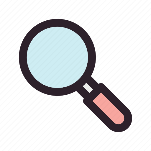 glass, magnifier, search icon