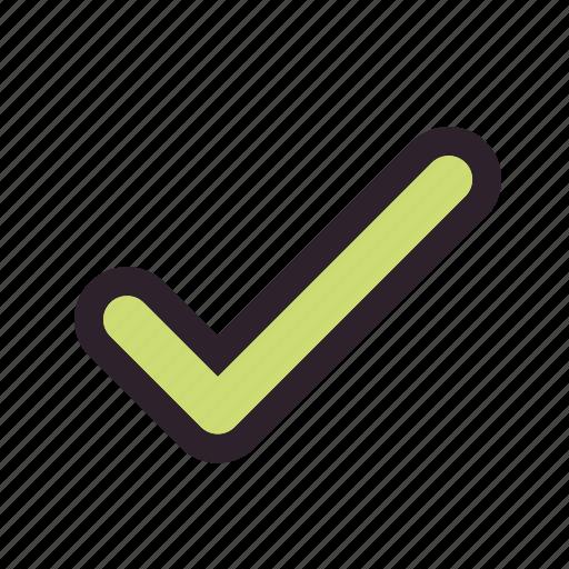 complete, right, tick icon