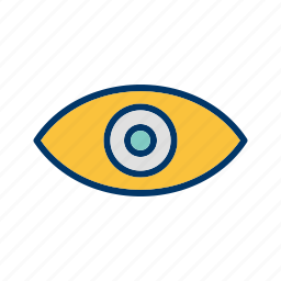 concept, eye, see, vision icon