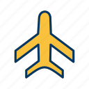 aeroplane, airplane, flight, plane icon