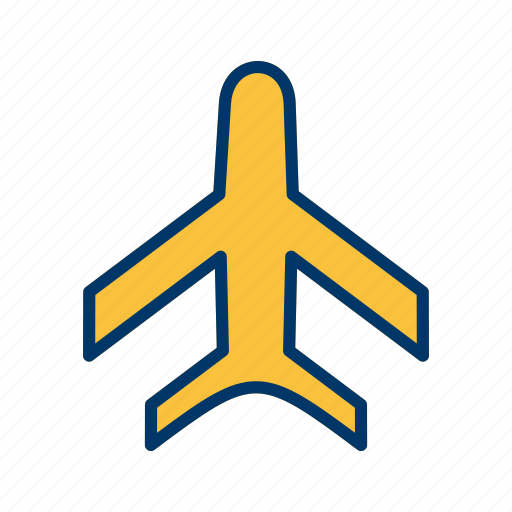 aeroplane, aircraft, airplane, airport, flight, fly, jet icon