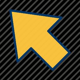 arrow, cursor, direction, pointer icon