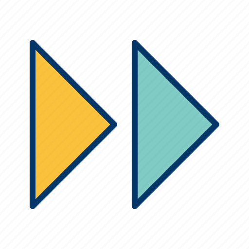 forward, forward arrows, next, right icon