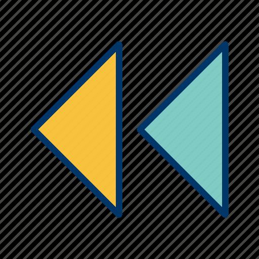 arrows, back, backward, direction, left, move, navigation icon