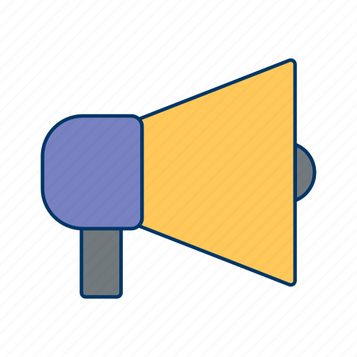announcement, broadcasting, horn, loudspeaker, protest, speaker icon