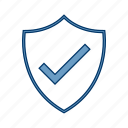 armor, badge, shield, valid icon